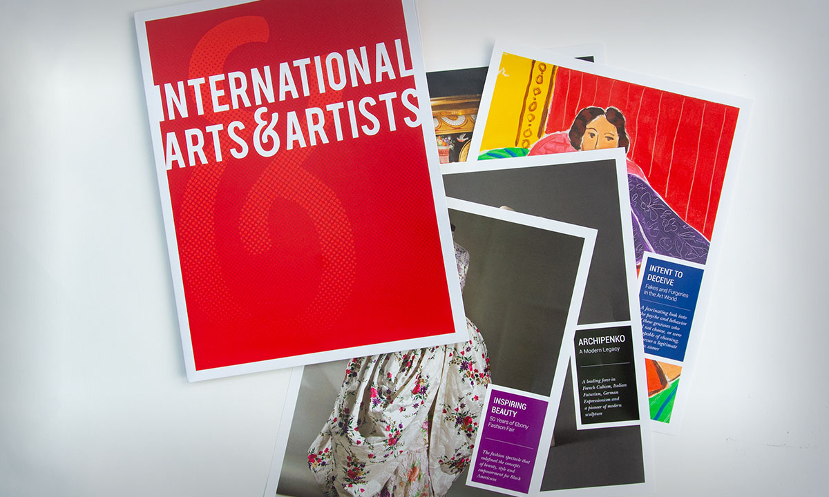 International Arts & Artists Marketing Material